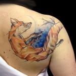 fox tattoo 150x150 Tattoo artist gallery: Marie Kraus