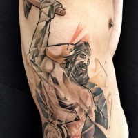 man at work tattoo 200x200 Tattoo Artist Gallery: Marie Kraus