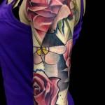 rose tattoo 150x150 Tattoo artist gallery: Marie Kraus