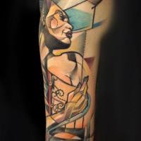Woman heart tattoo