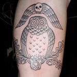 Owl tattoo 150x150 Tattoo artist gallery: Duke Riley