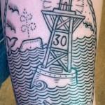 channel marker tattoo 150x150 Tattoo artist gallery: Duke Riley