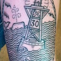channel marker tattoo