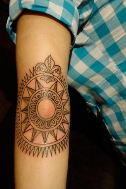 compass tattoo 427x640 compass tattoo