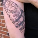 laika tattoo 150x150 Tattoo artist gallery: Duke Riley