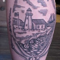 lighthouse tattoo 200x200 Tattoo Artist Gallery: Duke Riley
