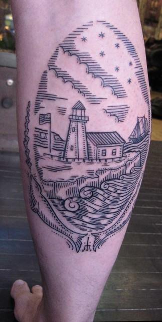lighthouse tattoo 323x640 lighthouse tattoo