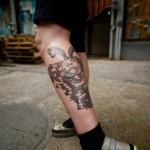 sea monster tattoo 150x150 Tattoo artist gallery: Duke Riley