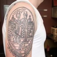 skeleton bartender tattoo
