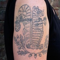 squirrel tattoo 200x200 Tattoo Artist Gallery: Duke Riley