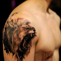 lion tattoo Wang 200x200 Tattoo artist Gallery: Joey Pang e Wang
