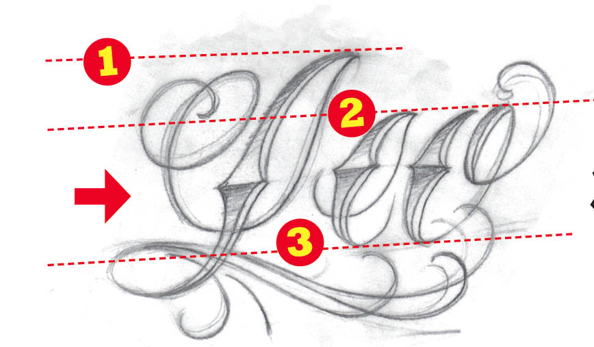 How To Draw A Lettering Tattoo Ideatattoo