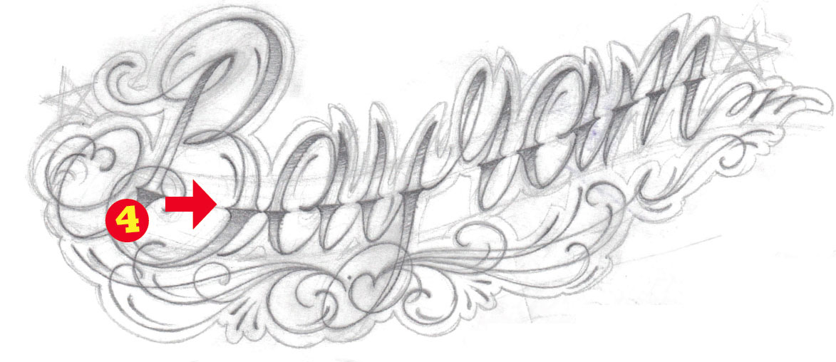 How To Draw A Lettering Tattoo