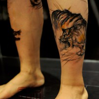 tiger tattoo, Wang