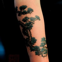 tree tattoo, Joey Pang