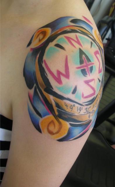 compass tattoo 394x640 compass tattoo