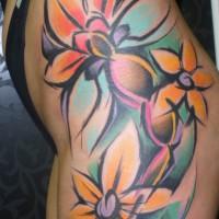 flowers tattoo 200x200 Tattoo artist gallery: Sebo