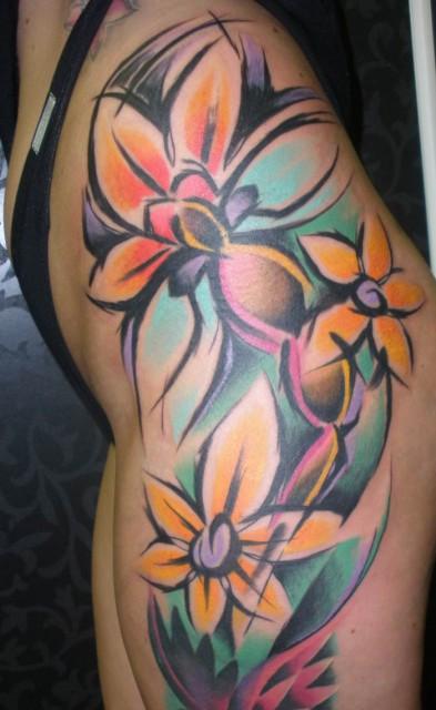 flowers tattoo 393x640 flowers tattoo