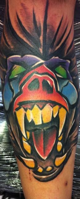 gorilla tattoo 259x640 gorilla tattoo