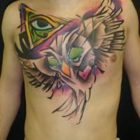 owl eye tattoo