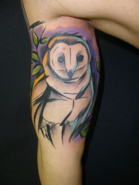 owl tattoo 480x640 owl tattoo