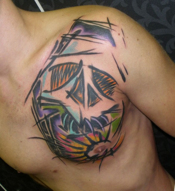 skull tattoo 587x640 skull tattoo