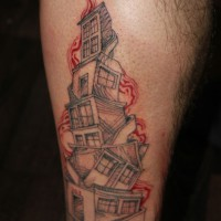 Skyscraper tattoo