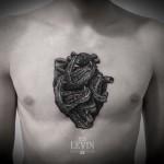 crocodiles heart tattoo 150x150 Tattoo Artist Gallery: Ien Levin