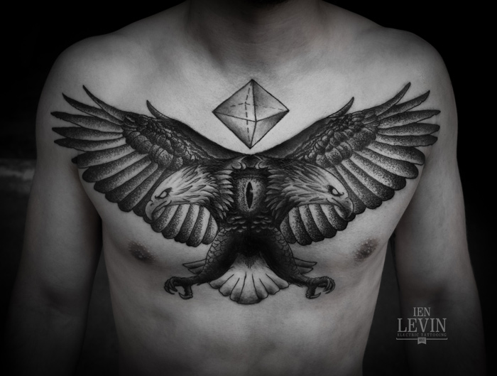 Tattoo artist gallery ien levin for Eye tattoo art