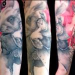 rabbit tattoo 150x150 Tattoo artist gallery: Lianne Moule