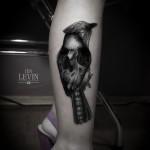 skull bird tattoo 150x150 Tattoo Artist Gallery: Ien Levin