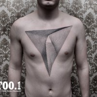 chest geometric tattoo by chaim