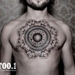 chest mandala tattoo by chaim