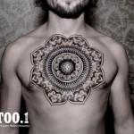 chest mandala tattoo by chaim