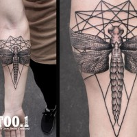 dragonfly tattoo by chaim