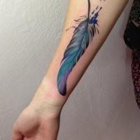 feather1 tattoo julia rehme 200x200 Tattoo Artist Gallery: Julia Rehme