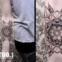 flower mandala tattoo chaim 200x200 Tattoo Artist gallery: Chaim Machlev