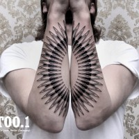 forearm tattoo chaim 200x200 Tattoo Artist gallery: Chaim Machlev