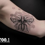 insect tattoo by chaim