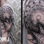 mandala geometric tattoo by chaim