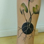 waterlily tattoo