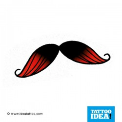 Tatto Idea Moustache121 250x250 Disegni tattoo   baffi