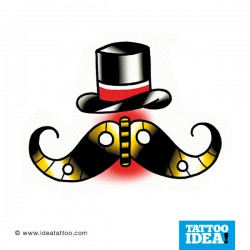 Tatto Idea Moustache41 250x250 Disegni tattoo   baffi