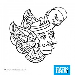 Tatto Idea Moustache81 250x250 Disegni tattoo   baffi