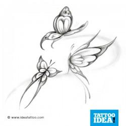 Tatto Idea farfalle11 250x250 Disegni Tattoo   Farfalle