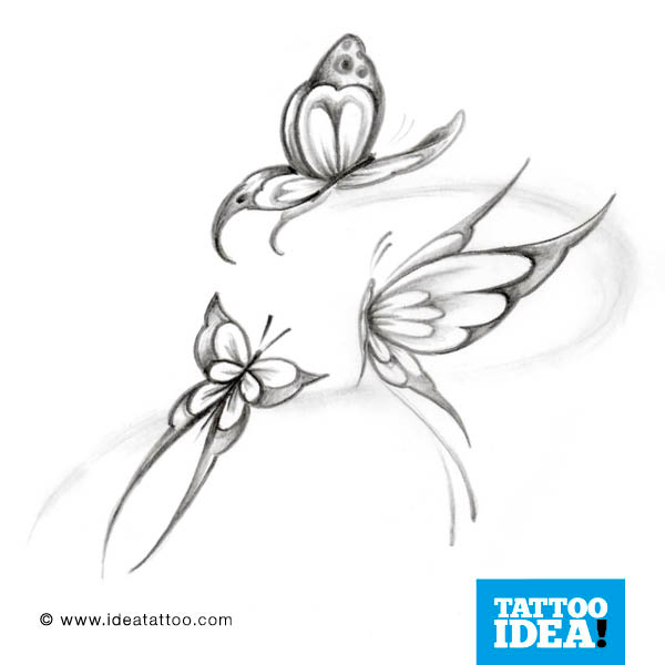 Farfalle tattoo gallery disegni ideatattoo for Immagini farfalle per desktop