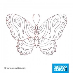 Tatto Idea farfalle9 250x250 Disegni Tattoo   Farfalle