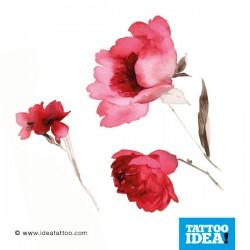 tattoo disegni fiori acquerello