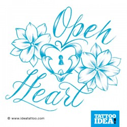 tattoo disegni fiore blu