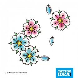 Tatto Idea fiori2 250x250 Disegni Tattoo   Fiori